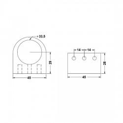 Soporte Pasante Tubo Decorativo medidas
