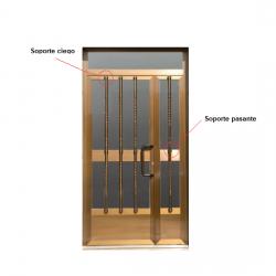 Soporte Pasante Tubo Decorativo puerta