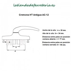 Cremona-Manilla-HT-Antigua-Blanca-o-Bronce-recorrido-pala