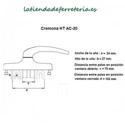 Cremona-Manilla-HT-AC-20-Dorada-recorrido