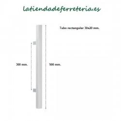 Tirador-Acero-Inox-500 mm-Rectangular-medidas