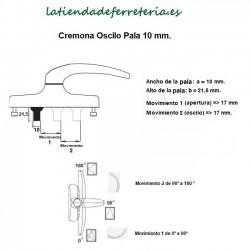 Cremona-Manilla-Oscilo-pala-10-mm-recorrido