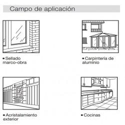 Silicona-Aluminio-ral-9006-neutra-Pattex-SL-620-aplicaciones