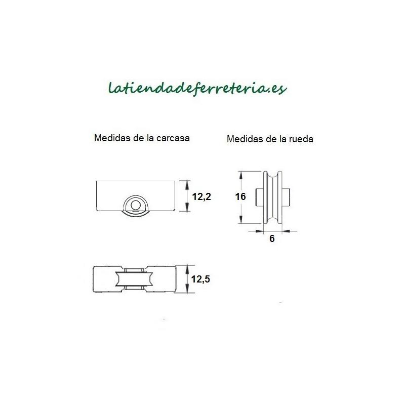 Rueda o Rodamiento Metalico rf. 151medidas