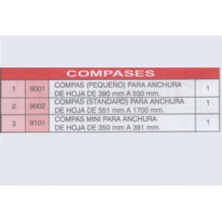 Medidas compases tovic