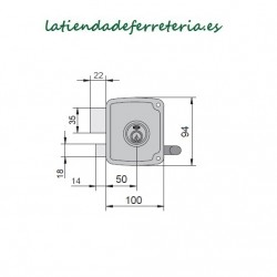 Cerradura Ucem 4125 HB010 Picaporte Pestillo medidas