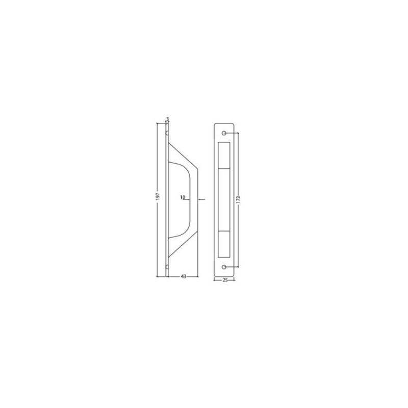Cerradero Acero Inox Regulable Doble