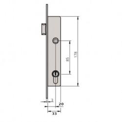 Cerradura CVL 1984T20/6 Picaporte medidas
