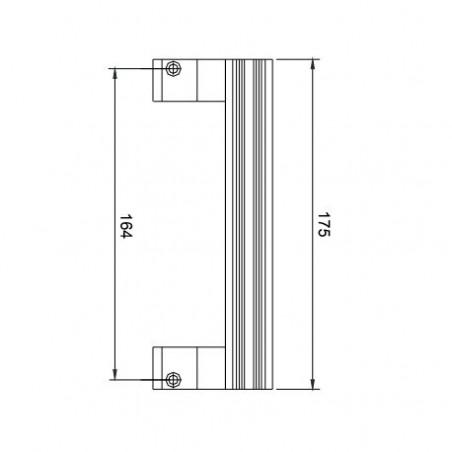 Cerradero Acero Inox Regulable Sencillo