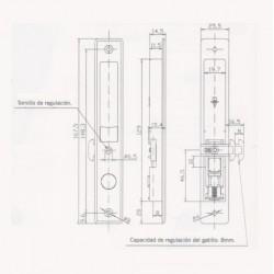 Cierre Ventana Corredera E-4 PS HT Aluminio medidas