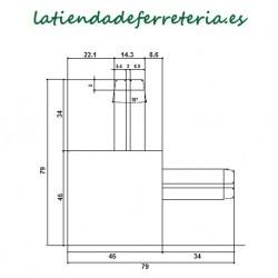 Escuadras Mosquitera Corredera Mod. 2 Blanco medidas