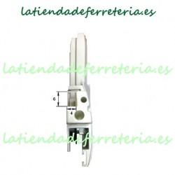 Escuadras Mosquitera Corredera Mod. 2 Blanco frontal
