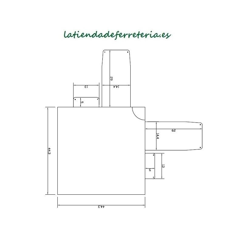 Tirador Acero Inox 300 mm