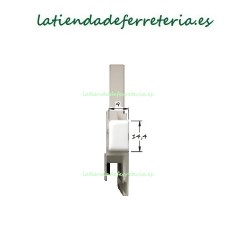 Escuadras Mosquitera Corredera Mod. 3 Blanco frontal