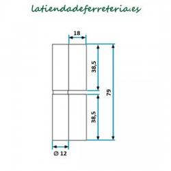 Pernio de Pala Ala Larga 80x12x2 medidas